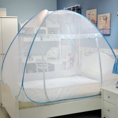 Eigia Kelambu Tidur Tenda Lipat Kasur Anti Nyamuk Serangga Lalat Mosquito Melindungi Anak Membuat Nyaman Modern 180 x 200 cm - Biru