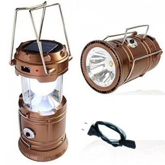 Eigia Lampu Emergency Lentera Camping Power Bank Solar Charger Lantern Lamp Senter Darurat .
