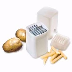 Eigia Pemotong Kentang Goreng French Fries Potato Stick Cutters Perfect Potatoes Chips Stainless Steel Manual Praktis Mudah Alat Potong Sayuran Wortel Aksesoris Dapur Rumah Tangga Pisau Tajam Memasak Cooking Dadu Persegi Panjang - Putih