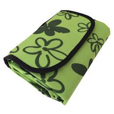 Spesifikasi Eigia Tikar Tamasya Piknik Lipat Karpet Outdoor Perlengkapan Rekreasi Mudah Kemas Tas Bahan Nylon Fleece Fabric Waterproof Anti Air Bunga Hijau Lengkap