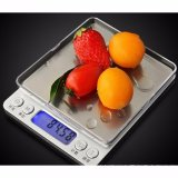 Eigia Timbangan Dapur Persegi Digital Lcd Display 1Kg Mini Kitchen Scale Akurat Tepat Weigher Kokoh Kuat Menimbang Emas Koin Bumbu Tepung Air Gula Garam Bahan Dapur Laboratorium Kopi Portable Blue Light Display Desain Unik Praktis Silver Original