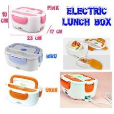 Jual Electric Lunch Box Penghangat Makanan Lunch Box Pemanas Makanan Orange Termurah