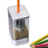 Jual Electric Pencil Sharpener Baja Heliks Pisau Pot Rumah Kantor Sekolah Desktop Stationery Intl Termurah