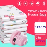Spesifikasi Electric Pump 6 Packs Premium Vacuum Storage Bags Works With Any Vacuum Cleaner Free Hand Pump For Travel Double Zip Seal And Triple Seal Storage Organisation For Compression Pack Intl Dan Harganya