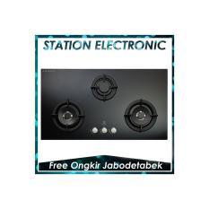 ELECTROLUX EGT-7637-CK Kompor Tanam Gas 3 tungku [Kaca Hitam]