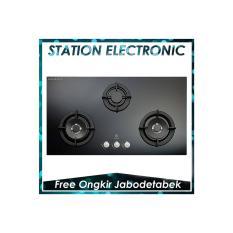 Electrolux EGT 9637 CK Kompor Tanam Gas 3 Tungku [Kaca Hitam]