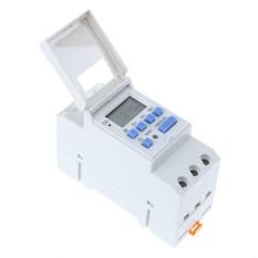 Elektronik Switch Mingguan Programmable Digital Switch Relay Timer Controller (Putih)-220 V-Intl
