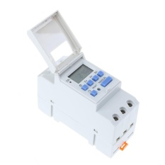Pusat Jual Beli Electronic Switch Weekly Programmable Digital Switch Relay Timer Controller White Intl Tiongkok
