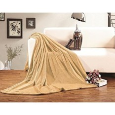 Elegance Linen Micro-Fleece Ultra Plush LUXURY Solid Blanket, Full/Queen, Gold - intl