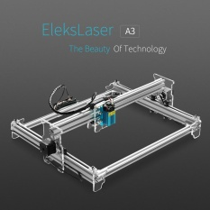 EleksMaker Baru EleksLaser A3 Pro 1600 MW Desktop USB Laser Engraving Mesin Ukiran Pengukir Carver DIY Laser Printer dengan Kacamata Pelindung-Intl