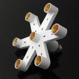 Ulasan Lengkap Tentang Elife Foto Baru Video Studio 7 In1 E27 Base Socket 110 V 240 V Splitter Light Lamp Bulb Adaptor Holder Intl