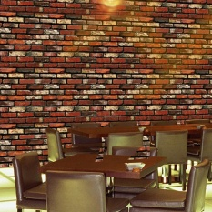 Elife Retro Batu Bata Pola Self Adhesive Tahan Air Stiker Dinding untuk Kamar Tidur Ruang Tamu Dapur Furniture 45*100 Cm (6 #) -Intl