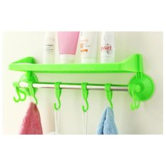 Spesifikasi Elora Store Rak Kamar Mandi Tempat Shampoo Handuk Odol Sabun Powerful Suction Yg Baik