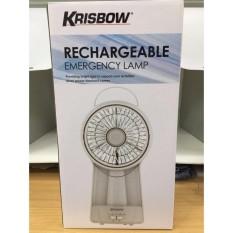 Emergency Lamp JUMBO + Kipas JUMBO + POWERBANK tahan 10 JAM KRISBOW