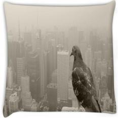 Empire State Pigeon Secara Digital Dicetak Cushion Cover Pillow 12x12 Inci-Intl