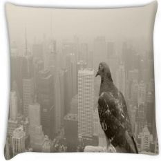 Empire State Pigeon Secara Digital Dicetak Cushion Cover Bantal 20x20 Inch-Intl