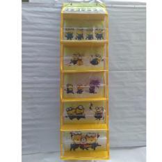 Harga Emwe Hbo Rak Tas Gantung Terbuka Tanpa Resleting Karakter Kartun Lucu Hanging Bag Organizer No Zipper 6 Susun Aksesoris Boneka Minion Kuning New