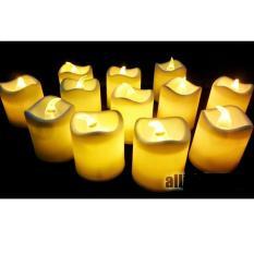 Emyli 12 pcs Lilin elektrik nyala kuning seperti lilin asli