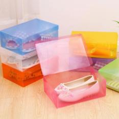 Emyli 5Pcs Kotak Sepatu Transparan Multicolor