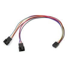 Emylo Pc Konektor Kipas Pwm Thermostat 4 Pin Female Ke 2X 4Pin 3Pin Male Extension Cable Diskon Tiongkok