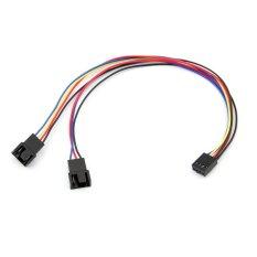 Jual Emylo Pc Konektor Kipas Pwm Thermostat 4 Pin Female Ke 2X 4Pin 3Pin Male Extension Cable Emylo Ori