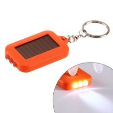 Energi Surya 3 Kunci Cahaya Obor Listrik Rantai Kekuatan Tinggi Hot (Jeruk)-International