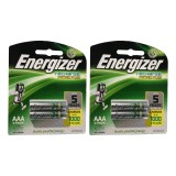 Promo Energizer 4 Pcs Rechargeable Baterry Aaa Nimh 1 2V Original Energizer