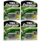 Model Energizer 8 Pcs Rechargeable Baterry Aaa Nimh 1 2V Terbaru