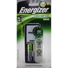 ENERGIZER CHARGER MINI (2 BATERAI) & 2 PCS AA 1300 mAh BATERAI RECHARGE [Charger Baterai / Cas Bate