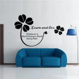 Jual Bahasa Inggris Words And Quotes Pvc Wall Stiker Hitam Branded Original