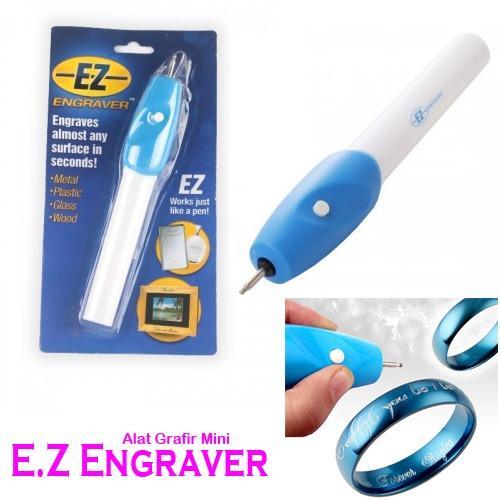 Beli sekarang Engrave It Pen Alat Ukir / Grafir Elektrik Portable - Putih-Biru THT terbaik murah - Hanya Rp18.220