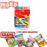 Beli Enzu Acc Crayon Putar Twist Crayon Titi 12 Warna Free 4 Pcs Buku Gambar Mewarnai Di Dki Jakarta