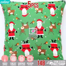 Toko Eolins 5 Sarung Bantal Sofa Christmas Santa Xmas Terlengkap