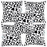 Jual Eolins 5 Sarung Bantal Sofa Loreng Leopard Eops033 Hitam Putih Eolins Asli