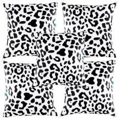 Diskon Eolins 5 Sarung Bantal Sofa Loreng Leopard Eops033 Hitam Putih Eolins