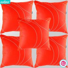 Eolins 5 Sarung Bantal Sofa Strings Jsps080 Orange Murah