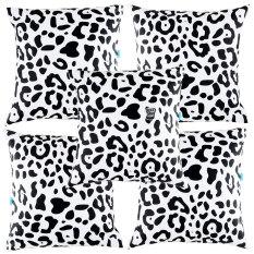 Beli Eolins Sarung Bantal Sofa Motif Loreng Leopard Jsps033 Hitam 5 Buah Eolins Dengan Harga Terjangkau