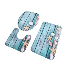 ERA 3 Pcs/set Flanel Bath Mats 3D Printing Water Absorption Anti Licin Kamar Mandi Karpet Lantai Karpet Set untuk Kamar Mandi 22 Multicolor-Intl