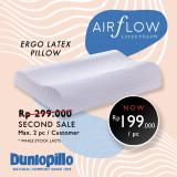 Promo Ergo Pincore Natural Latex Dunlopillo Terbaru