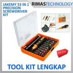 ermurah !! Jakemy 53 in 1 Precision Screwdriver Repair Tool Kit - JM-8127 - Satu Paket Set Alat Reparasi Kepala Schrew Driver Obeng Magnetic Magnetik Magnet Anti Slip ORIGINAL