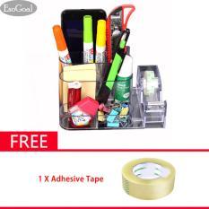 Esogoal Pemegang Acrylic Makeup Organizer Stand Rack Multifungsi Acrylic Desk Organizer Pen Pot Dan Lainnya Transparan Tiongkok