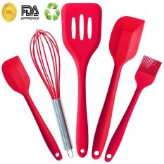 Spesifikasi Esogoal Cooking Utensils Silicone Kitchen Utensils Set 5 Piece Premium Barbecue Tools Accessories In Hygienic Solid Coating For Kitchen Barbecue Esogoal Terbaru