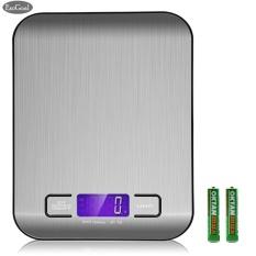 Beli Esogoal Digital Skala Dapur Multifungsi Skala Makanan 11 Lb 5 Kg Perak Stainless Steel Intl Esogoal