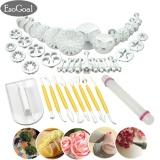 Review Esogoal Fondant Cake Decorating Kit 14 Sets 46 Pcs Aneka Alat Pemodelan Dan Plunger Cutters Untuk Fondant Gum Pasta Sugarcraft Intl Di Tiongkok