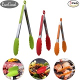 Toko Esogoal Makanan Tongs Set 3 7 9 12 Inch Heavy Duty Stainless Steel Kitchen Tongs Dengan Silicone Tips Multicolor Hijau Merah Orange Intl Esogoal