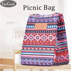 Toko Jual Esogoal Insulated Lunch Bag With Velcro Closure Thickened Tote Cooler Bag For Picnic Sch**L Travel Lunch Box