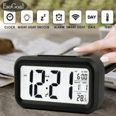 EsoGoal LED Smart Digital Alarm Clock menampilkan kalender elektronik Desktop Backlight jam