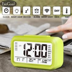 Jual Esogoal Led Smart Digital Alarm Clock Menampilkan Kalender Elektronik Desktop Backlight Jam Hijau Antik