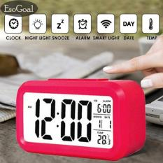 Tips Beli Esogoal Led Smart Digital Alarm Clock Menampilkan Kalender Elektronik Desktop Backlight Jam Rose Intl
