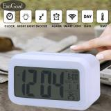 Beli Esogoal Led Smart Digital Alarm Clock Menampilkan Kalender Elektronik Desktop Backlight Jam Putih Online Terpercaya